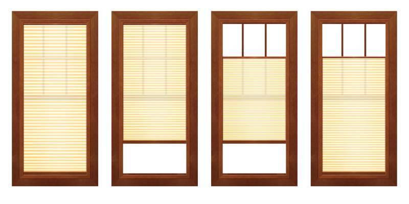 adjustable integrated window and patio door shades