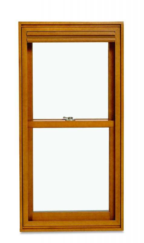 marvin double hung window with shade